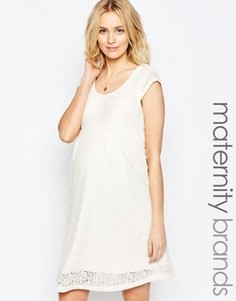 Кружевное платье для беременных Mamalicious - Белый Mama.Licious