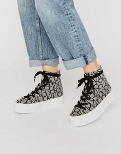 Высокие кроссовки на платформе с логотипом Calvin Klein Jeans Zabrina CK - Мульти
