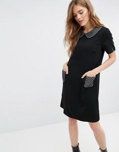 Платье с отделкой металлик Traffic People Miss Marple Polly - Черный