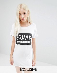 Футболка для сна с принтом Squad Adolescent Clothing - Белый