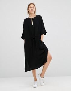 Платье миди с драпировкой Just Female - Черный