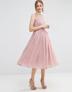 Платье миди для выпускного ASOS - Розовый