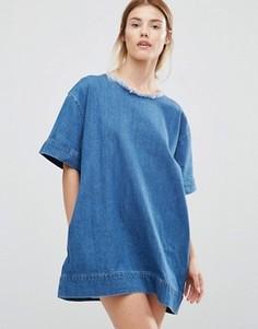 Джинсовое чайное платье Waven Marta - Синий