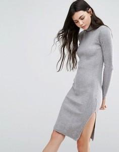 Платье с длинными рукавами и высокой горловиной Vero Moda - Серый