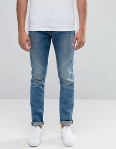 Светлые винтажные джинсы слим Blend Jet - Синий