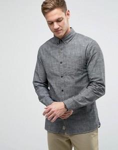 Рубашка классического кроя с воротником на пуговицах Jack & Jones Vintage - Черный