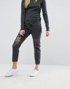 Рваные джинсы в винтажном стиле New Look - Черный