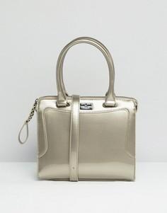 Серебристая лакированная сумка-тоут Pauls Boutique - Серебряный