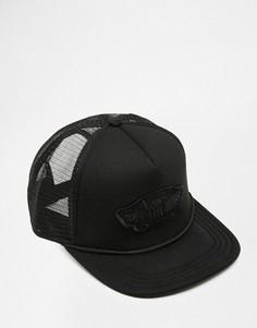 Классическая бейсболка с логотипом Vans - Черный