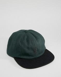 Шерстяная бейсболка Stussy - Зеленый