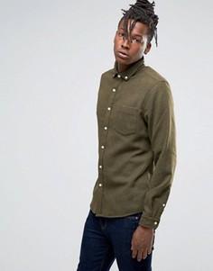 Рубашка классического кроя с добавлением шерсти ASOS - Зеленый