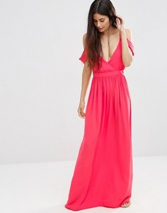 Платье макси в греческом стиле с открытыми плечами Oh My Love - Розовый