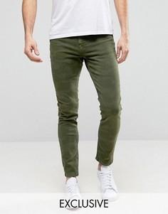 Зеленые камуфляжные джинсы скинни Brooklyn Supply Co - Зеленый