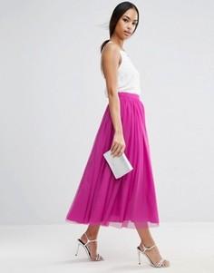 Многослойная юбка для выпускного из тюля ASOS - Красный