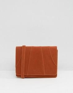 Бархатная сумка через плечо цвета ржавчины Glamorous - Оранжевый