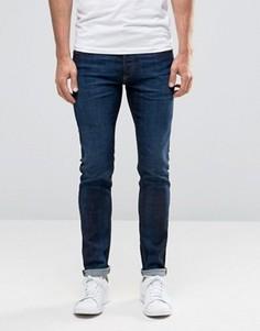 Темные зауженные джинсы Diesel Sleenker 858E - Синий