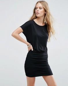 Трикотажное платье со сборками JDY - Черный