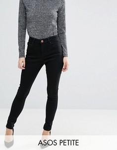 Черные джинсы с завышенной талией ASOS PETITE Sculpt Me - Черный