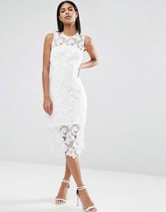 Платье миди кроше AX Paris - Кремовый