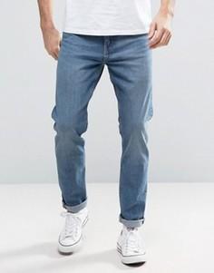 Синие хлопковые джинсы с заниженным шаговым швом Weekday Sunday - Синий