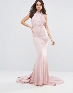 Платье макси с халтером City Goddess - Розовый