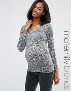 Топ для беременных Mamalicious Maternity Ani - Серый Mama.Licious
