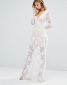 Платье макси цвета слоновой кости Majorelle - Белый