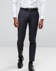 Узкие темно-серые брюки Ben Sherman - Темно-синий