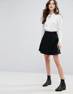 Расклешенная мини-юбка Vila - Черный