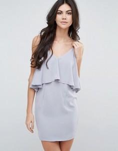 Платье на бретельках с оборкой Love & Other Things - Серый