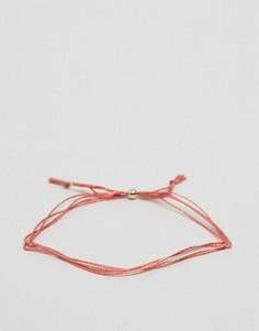 Шелковый браслет с регулируемой застежкой Dogeared Make A Wish - Розовый