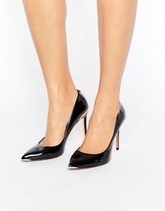 Черные лакированные кожаные туфли-лодочки Ted Baker Kaawa - Черный