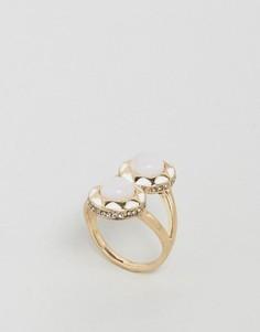 Броское кольцо с двумя камнями House Of Harlow - Белый