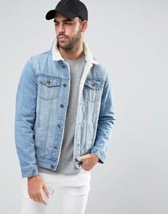 Выбеленная куртка с искусственным мехом Liquor & Poker Norton - Синий