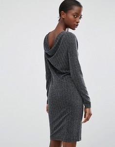 Серебристое платье с открытой спиной b.Young - Серебряный