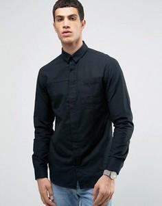 Рубашка классического кроя со скрытой планкой Jack & Jones - Черный