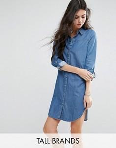 Джинсовое платье-рубашка Vero Moda Tall - Синий