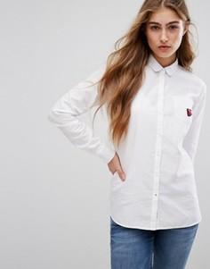 Оксфордская рубашка с нашивкой Tommy Hilfiger - Белый