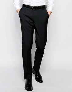 Черные зауженные брюки под смокинг ASOS - Черный