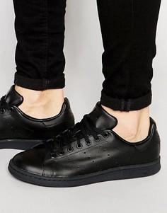 Кожаные кроссовки Adidas Originals Stan Smith M20327 - Черный