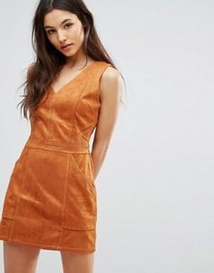 Платье из искусственной замши Greylin Jordan - Коричневый