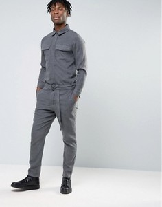 Темно-серый строгий костюм ASOS - Серый