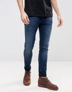 Супероблегающие джинсы стретч цвета индиго Nudie Lin - Темно-синий