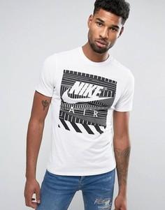 Белая футболка с геометрическим принтом Nike Air 843388-100 - Белый