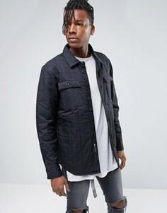 Черная стеганая рубашка-куртка Nike SB 800973-010 - Черный