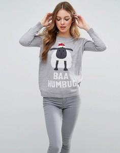 Новогодний джемпер Brave Soul Baa Humbug - Серый
