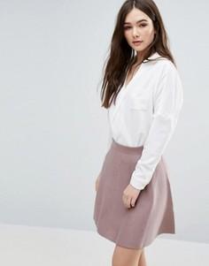Блузка с драпировкой спереди Lavand - Белый