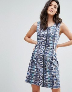 Платье на молнии с принтом Lavand - Мульти