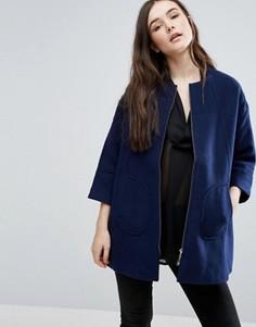 Темно-синее свободное пальто Lavand - Темно-синий