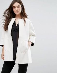 Белое свободное пальто Lavand - Белый